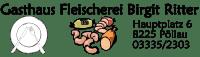 Logo: Gasthaus Fleischerei Birgit Ritter