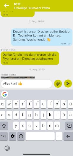 Chat für Vereine in der Pöllauer Tal App