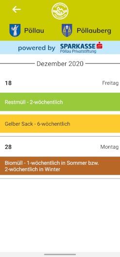 Müllkalender von Pöllau & Pöllauberg in der App