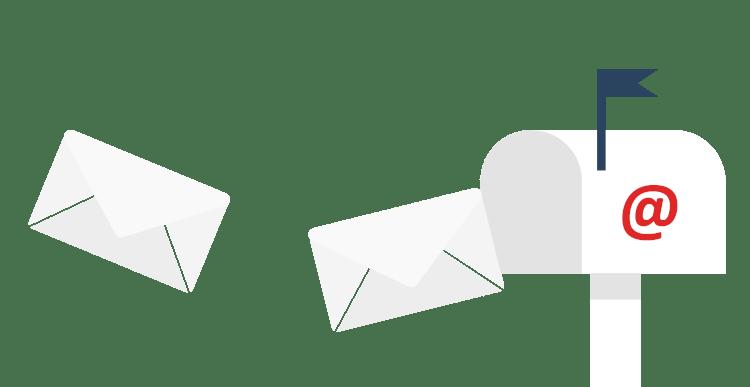 Mail-Postfach mit eingehenden Nachrichten