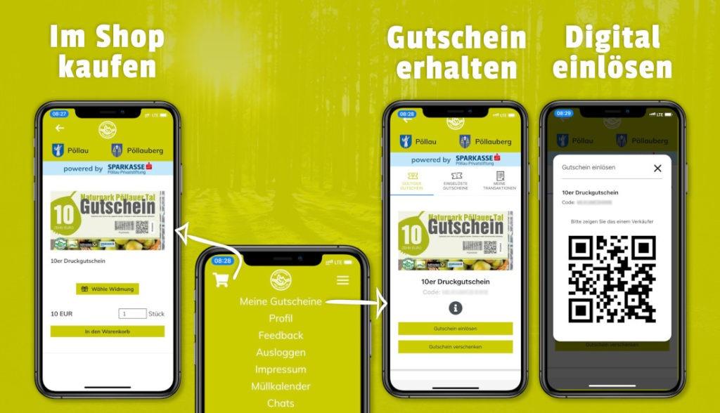 Anleitung zur Verwendung der Gutscheine.