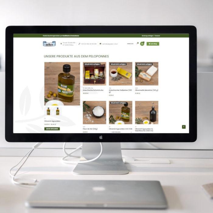 Webshop mit exklusiven Produkten aus Griechenland